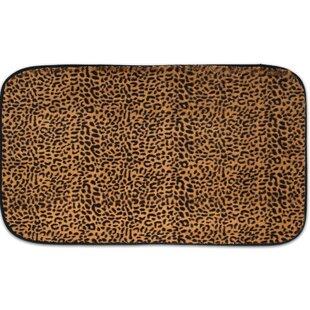 Exotic Leopard Quick Dry Memory Foam Bath Rug