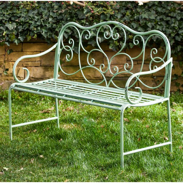 Garry Scroll Metal Garden Bench by One Allium Way