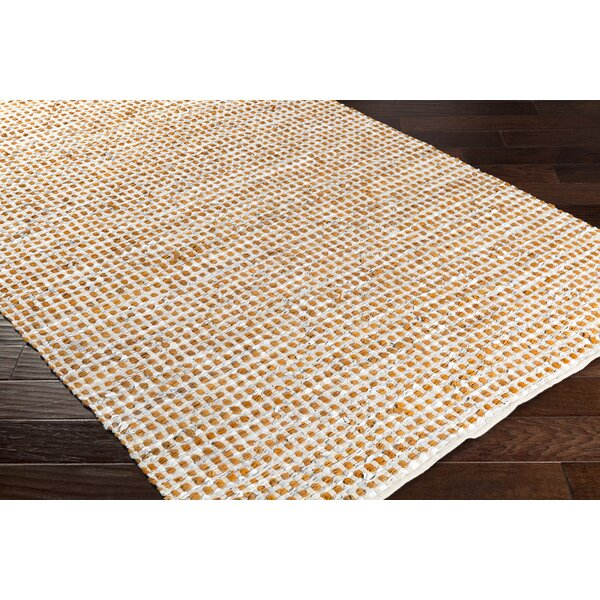 Laflin Hand-Woven Burnt Orange/Pale Blue Area Rug by Gracie Oaks