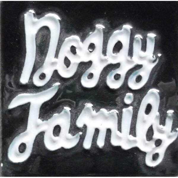 Doggy Family Tile Magnet by Continental Art Center