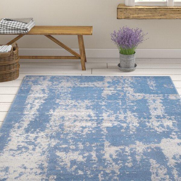 Kavia Blue/Gray Area Rug by Ophelia & Co.