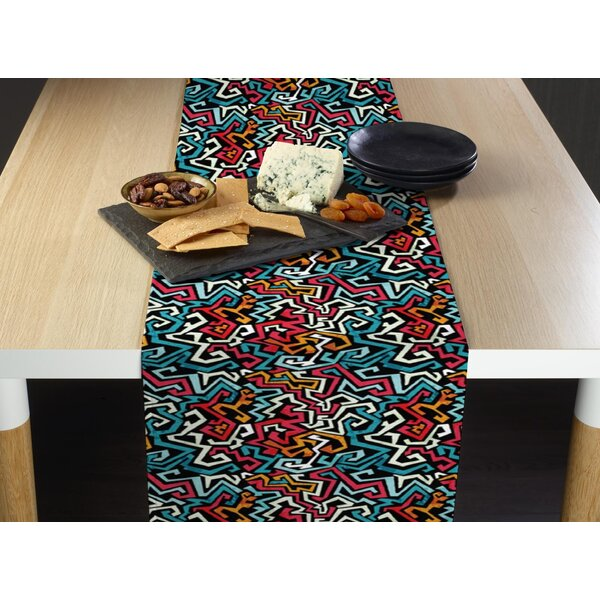 Winebarger Graffitti Table Runner by Bloomsbury Market