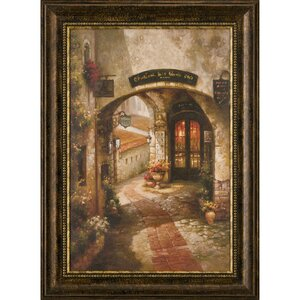 Ashton Art & Décor Good Company Awaits Framed Painting Print by Ashton Wall Décor LLC