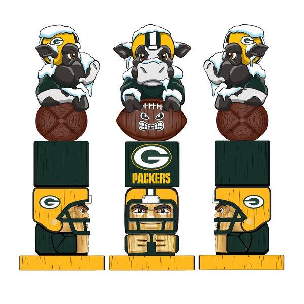 NFL Green Bay Packer Tiki Totem Figurine by Evergreen Enterprises, Inc