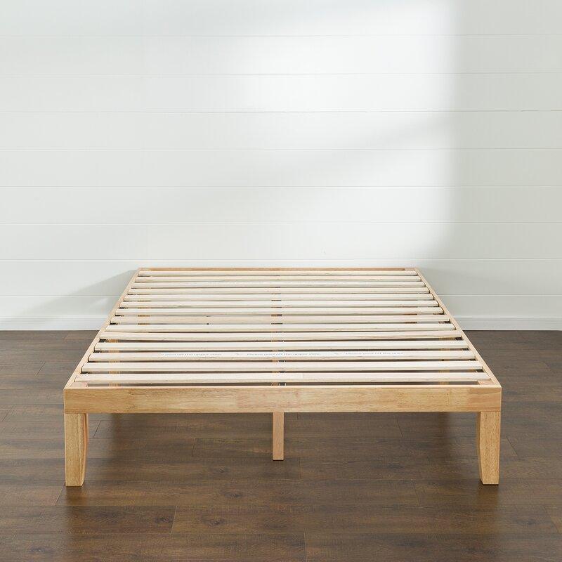 Red Barrel Studio Bobek Wood Platform Bed Frame & Reviews | Wayfair