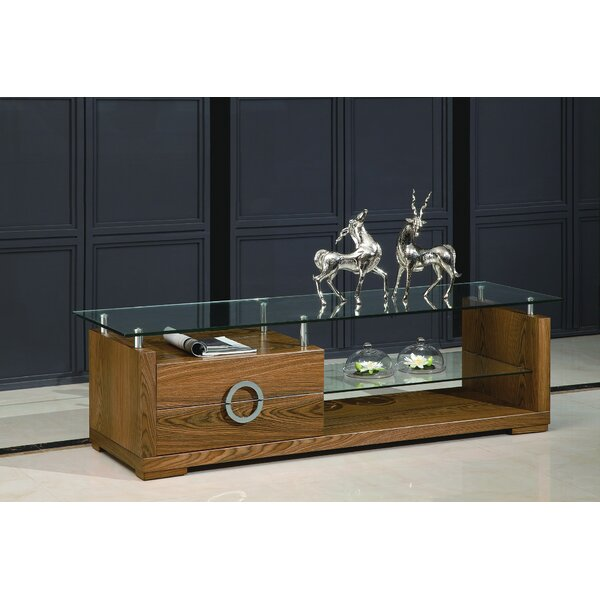 Sherron Solid Wood TV Stand for TVs up to 78 inches by Bloomsbury Market Bloomsbury Market