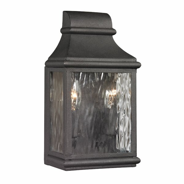 Negron 2-Light Outdoor Wall Lantern by August Grove