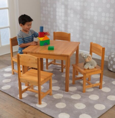 Farmhouse Kids 5 Piece Square Table And Chair Set By Kidkraft.