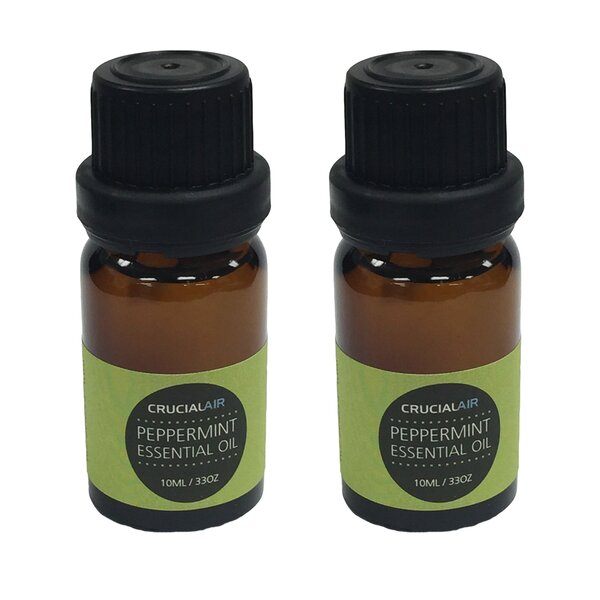 Sweet Peppermint Infused Essential Oil for Aromatherapy (Set of 2) by Crucial
