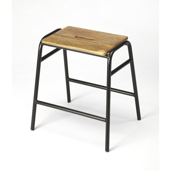 Leonard Accent Stool by Gracie Oaks