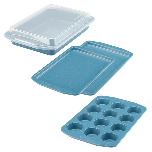 4 Piece Non-Stick Speckle Bakeware Set by Paula De