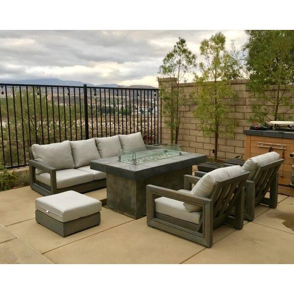 Westwick Weather Teak Sunbrella Sofa Set with Cushions