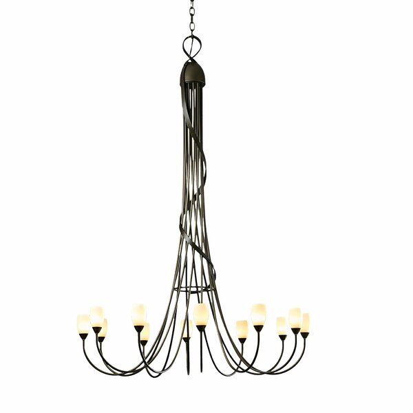 Flora 12-Light Shaded Classic / Traditional Chandelier By Hubbardton Forge