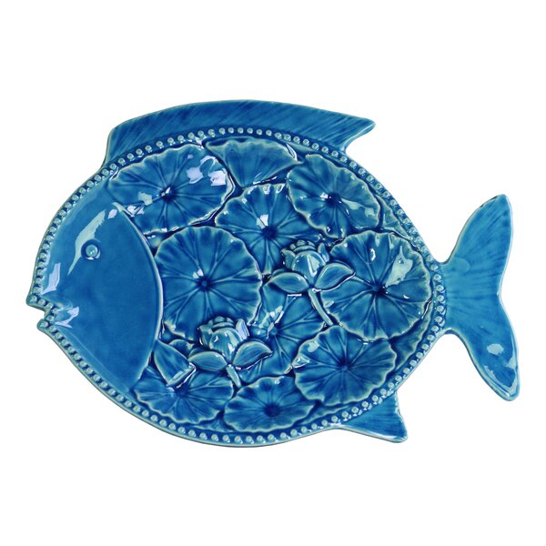 Ceramic Fish Platter by Urban Trends