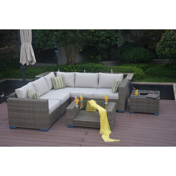 Northdale 4 Piece Rattan Sectional Set With Cushions By Rosecliff Heights