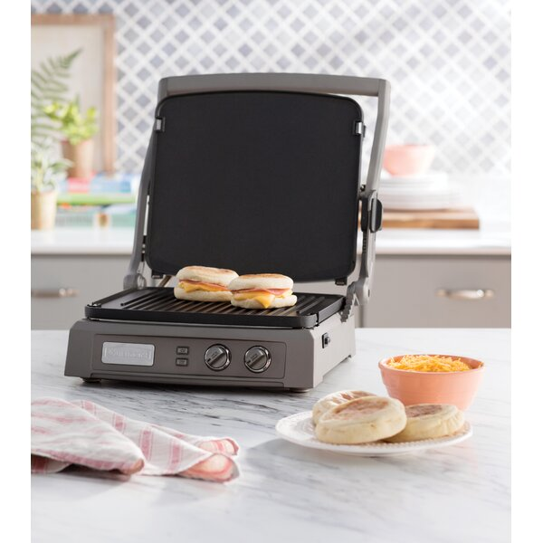 Deluxe Nonstick Reversible Grill Pan and Griddle b
