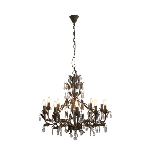 Milla 12-Light Crystal Chandelier by House of Hampton