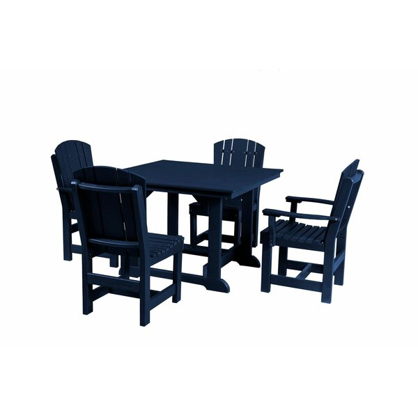 Patricia 5 Piece Dining Set by Rosecliff Heights