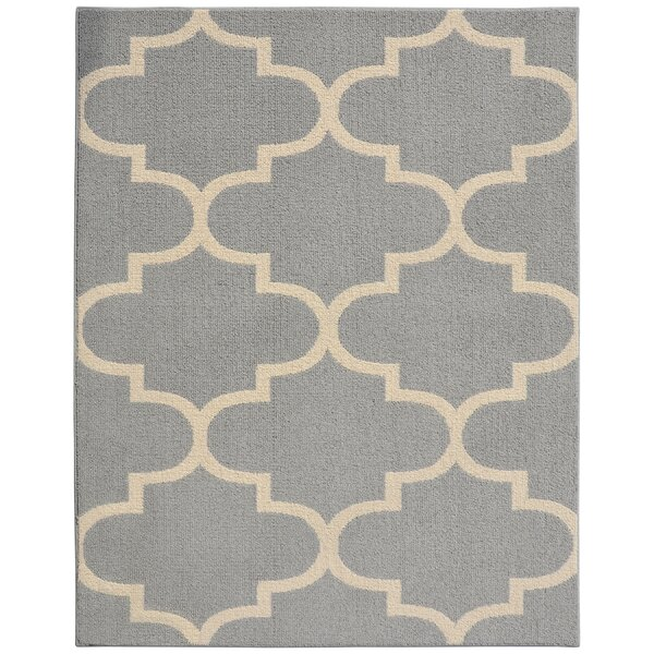 Large Quatrefoil Gray/Ivory Area Rug by Garland Rug