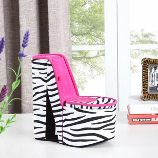 Buy clear Zebra Print High Heel Shoe Hidden Jewelry Box By Zoomie Kids