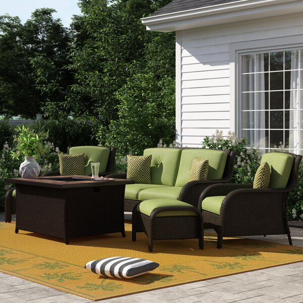 Asherman 6 Piece Sofa Seating Group with Cushions by Sol 72 Outdoor