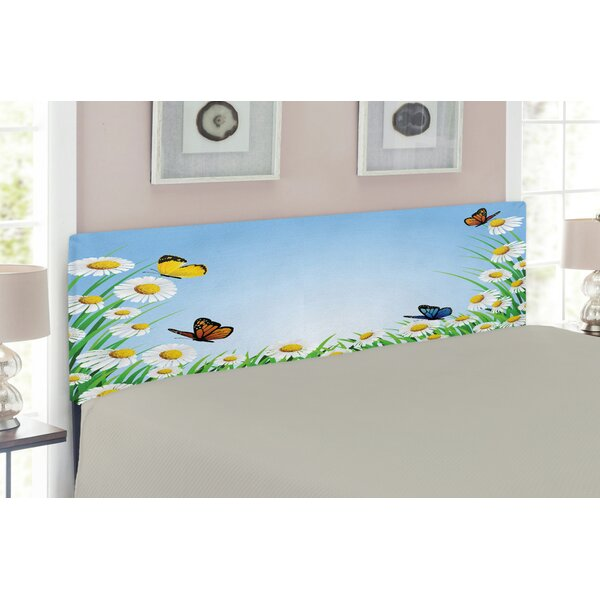 Butterfly Queen Upholstered Panel Headboard by East Urban Home
