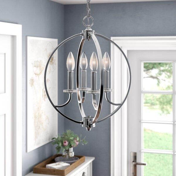 Keever 4-Light Globe Chandelier by Mercer41