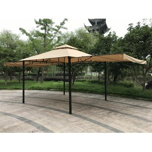 Double Roof 11 Ft. W X 11 Ft. D Steel Patio Gazebo