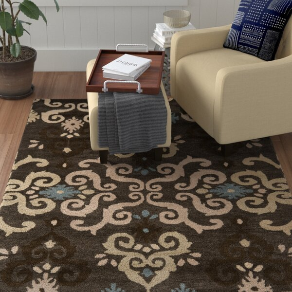 Matthews Brown Florals Area Rug by Winston Porter