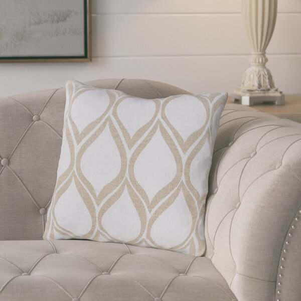 Eglantine Pale Linen Throw Pillow by Gracie Oaks