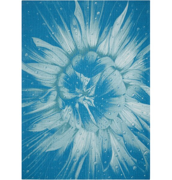 Adamov Blue Indoor/Outdoor Area Rug by Latitude Run