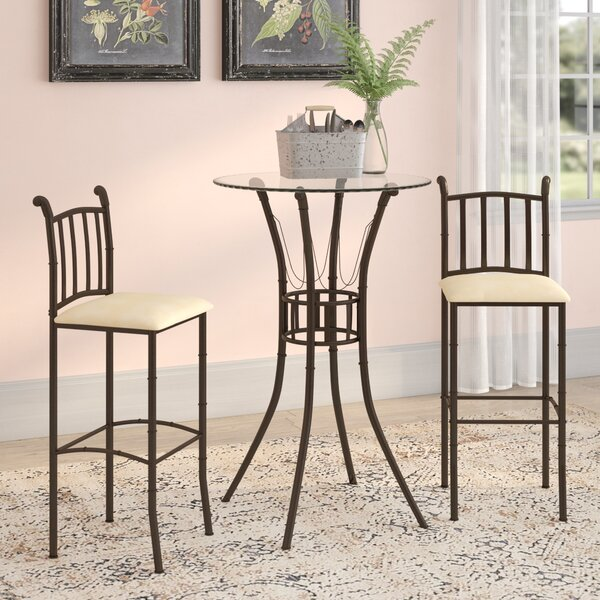 Jeffrey 3 Piece Pub Table Set by Winston Porter