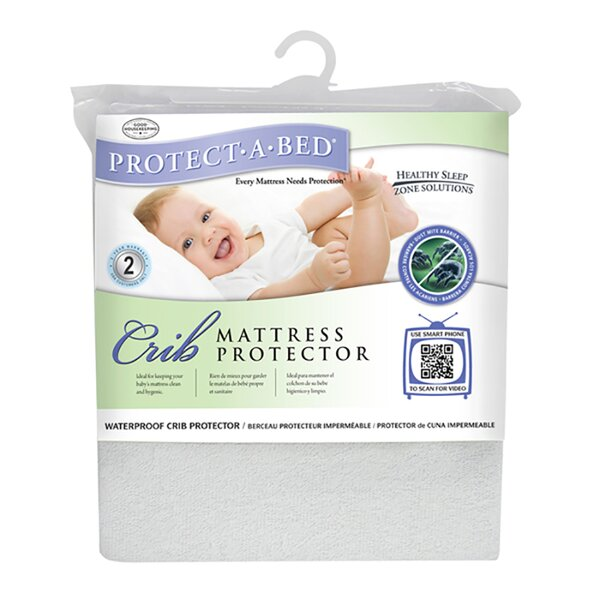 Premium Fitted Sheet Style Crib Protector by Protect-A-Bed