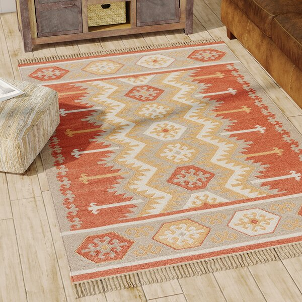 Gurley Handwoven Flatweave Ash/Auburn Indoor/Outdoor Area Rug by Loon Peak