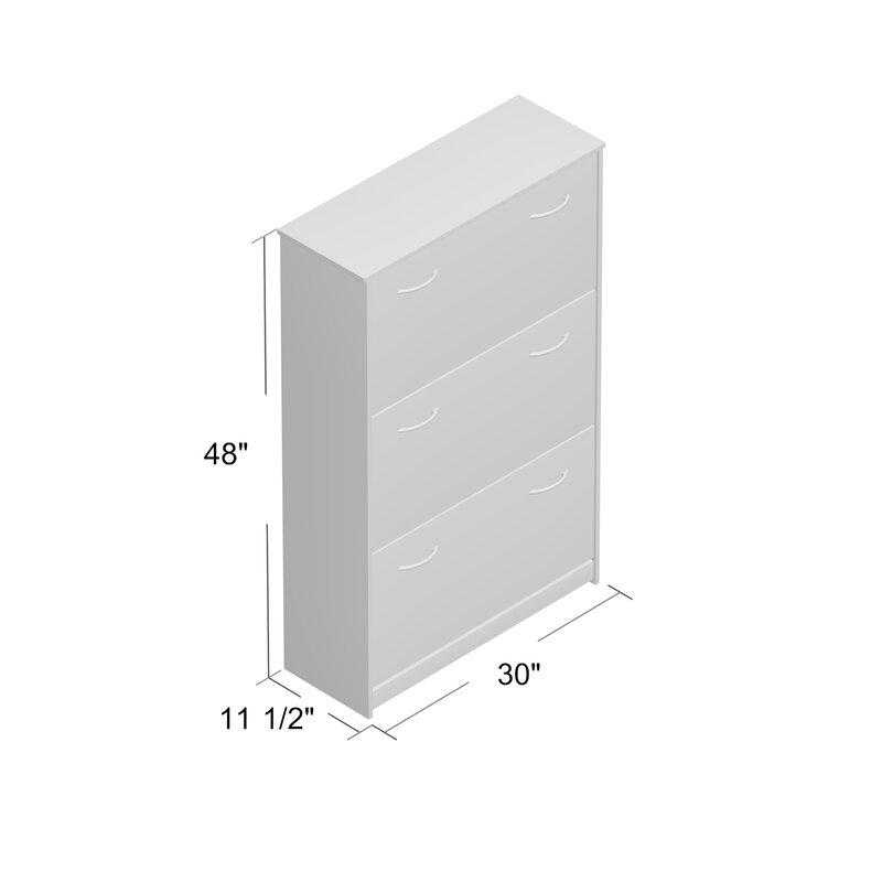 Triple 14 Pair Shoe Storage Cabinet