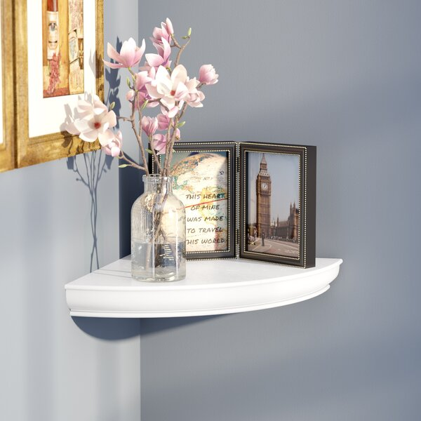 Hopwood Floating Corner Shelf by Charlton Home