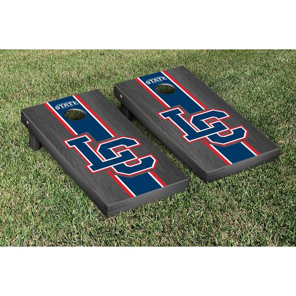 NAIA Lewis Clark Warriors Onyx Stained Stripe Version Cornhole Game Set by Victory Tailgate