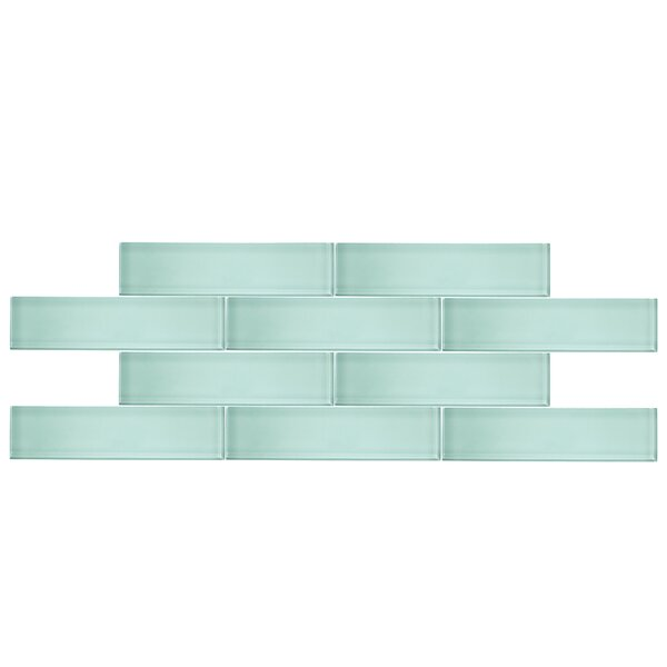 3 x 12 Glass Subway Tile in Seafoam by Vicci Design