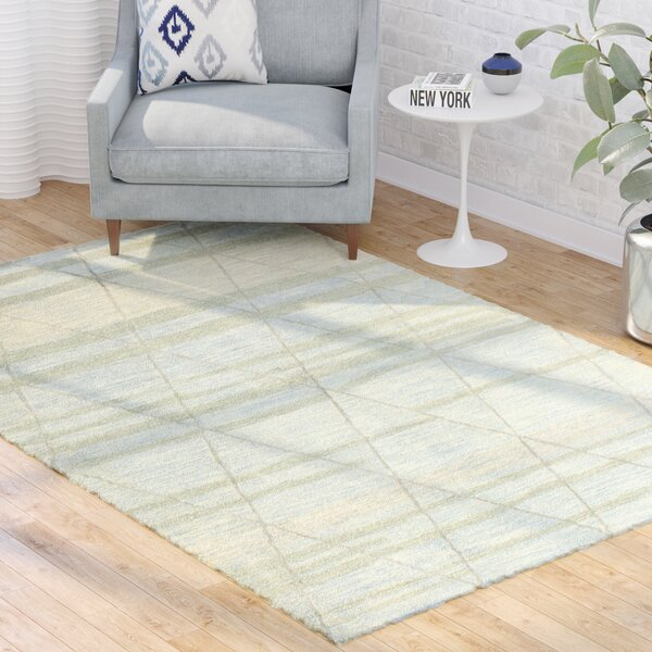 Kelson Hand Tufted Wool Light Blue Area Rug by Latitude Run