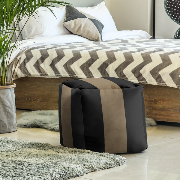 Nashville Anchor Stripes Cube Ottoman By East Urban Home
