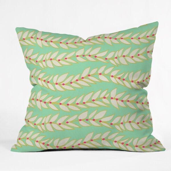 Jacqueline Maldonado Leaf Dot Stripe Throw Pillow by Deny Designs