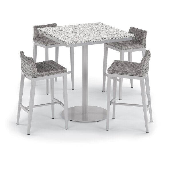 Saleem 5 Piece Bar Height Dining Set by Brayden Studio