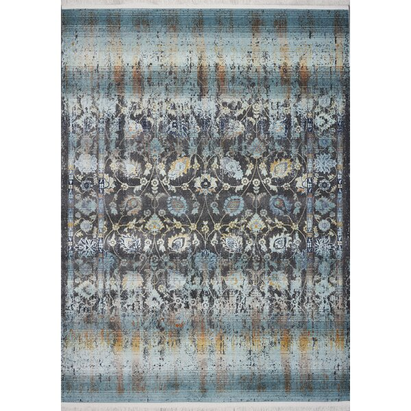 Herndon Turquoise Area Rug by Bungalow Rose