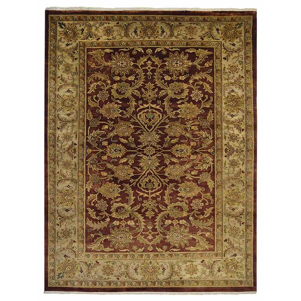 Shephard Hand-Knotted Wool Rust/Cream Area Rug by Astoria Grand
