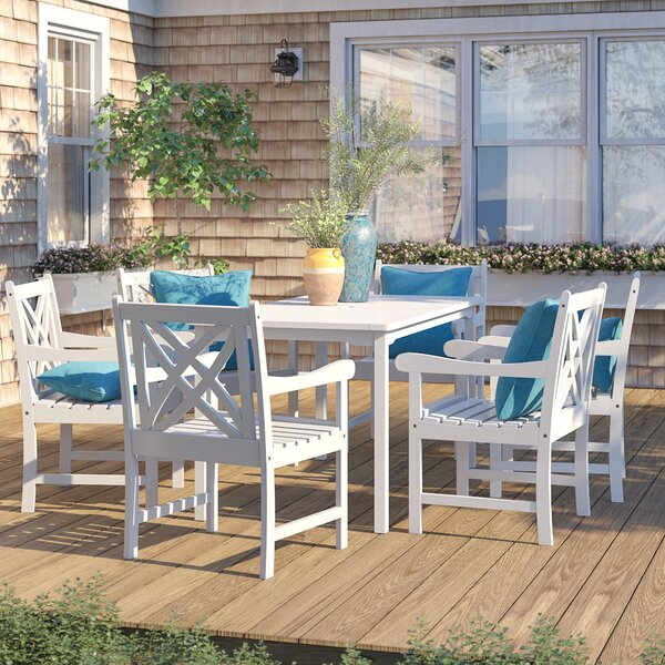 Zephyrine 7 Piece Dining Set by Beachcrest Home