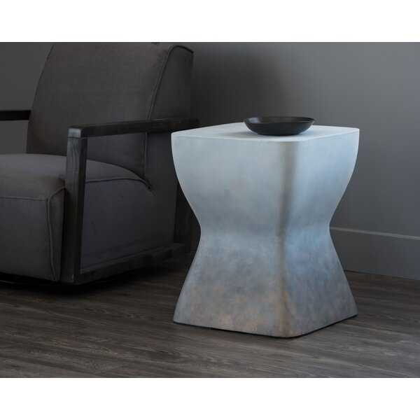 Primeaux Pedestal End Table by Orren Ellis