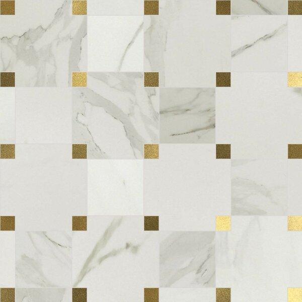 Harper 9.25 x 9.25 Porcelain and Metal Mosaic Tile