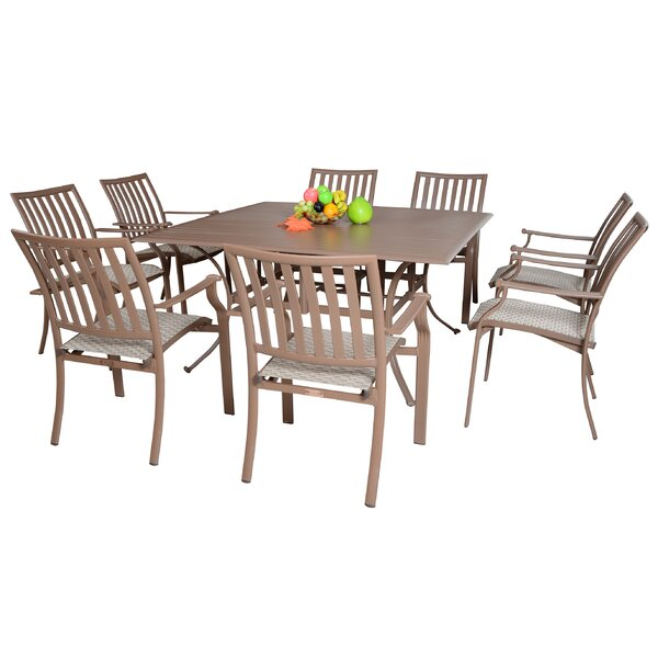 Island Breeze 9 Piece Dining Set by Panama Jack Outdoor