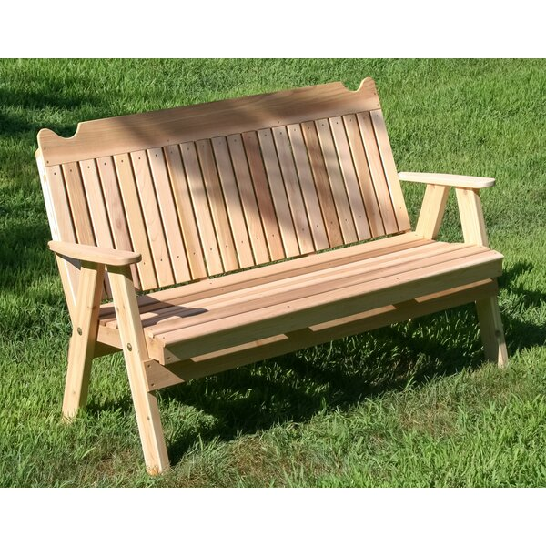 Fowlkes Wooden Garden Bench by August Grove