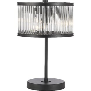 Reviews Drumboe Crystal Rod Iron Contemporary 14 Table Lamp By Gracie Oaks